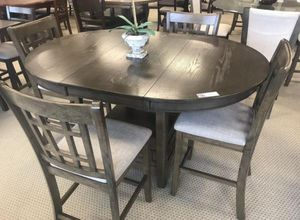 New 5-PC Grey Counter Height Breakfast Kitchen Table Set for Sale in Stafford, TX