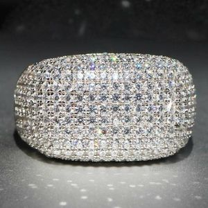 *NEW ARRIVAL* Dazzling White Sapphire Pave Dome Ring stamped 925 SZ 6 - 10 *See My Other 300 Item for Sale in Palm Beach Gardens, FL