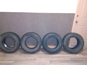 "Set of trailer tires. Bought from a guy on facebook marketplace for $125...wrong size tire for my jeep. Great shape. $100 obo. They are 14"" rims for Sale in Terre Haute, IN"