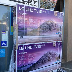 75 INCH LG UHD TV SMART 4K TV AI THIN Q HUGE SALE TVS GAMING TV for Sale in Burbank, CA