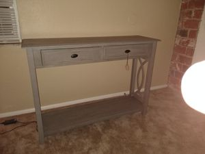 BRAND NEW! Gray wash console table. for Sale in St. Louis, MO