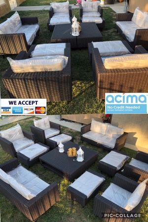 Huge patio furniture set sunbrella cushions for Sale in Norco, CA