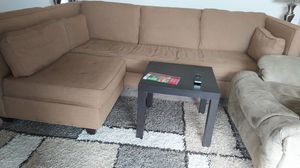 Fabric L shape sectional sofa brown for Sale in Fairfax, VA