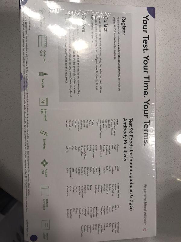 NEW Food Sensitivity Test Kit