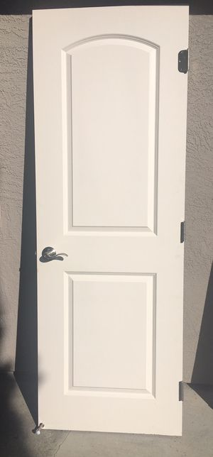 """White paneled door with chrome door handle 79x28"""" for Sale in Concord, CA"""