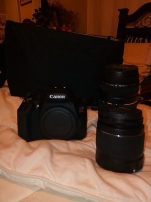 Canon EOS Rebel T6 with 2 lenses and a bag for all 3 , battery and charger included no sd card for you for Sale in Lowell, MA