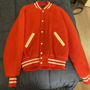 Unisex varsity Letterman's jacket Red/white Size Large for Sale in PA, US