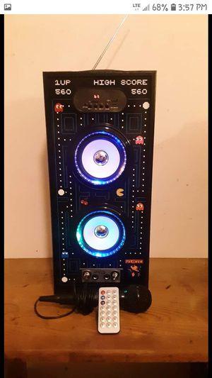 Pac-man bluetooth mini speaker/ karaoke machine for Sale in Arp, TX