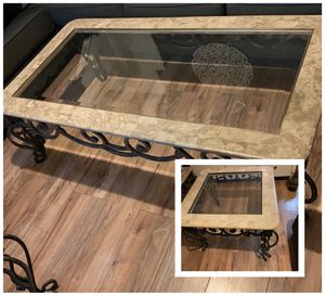Marble coffee table and side table for Sale in Phoenix, AZ
