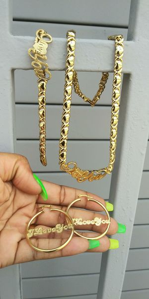 🚗🚗I deliver...I ship Gold filled 💖📿chain earrings and bracelet wont fade nor tarnish 🚕🚕🚕 for Sale in Hollywood, FL