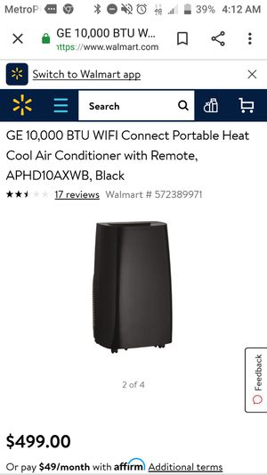 GE portable Air Conditioner/ Heater/dehumidifier for Sale in Boulder, CO