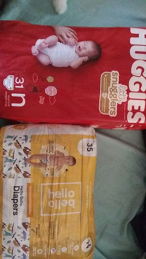 Hello Baby and huggies newborn diapers for Sale in Upland, CA