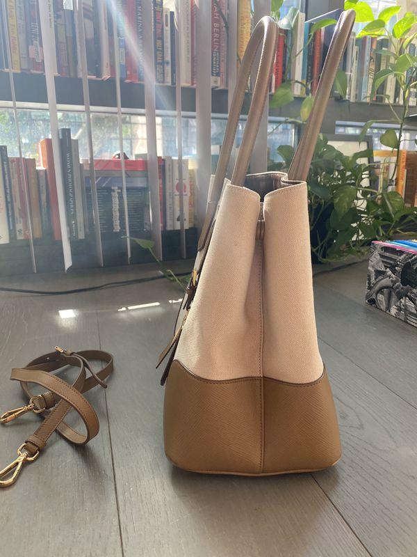 PRADA Canvas Tote Bag with Strap