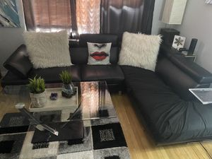 FREE!!! Must go ASAP! Faux Leather Modern Couch for Sale in Cliffside Park, NJ