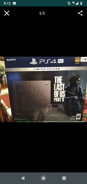 The last of Us part 2 limited edition PS4 pro for Sale in Phoenix, AZ