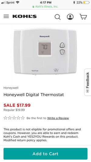Honeywell thermostat for Sale in Chicago, IL