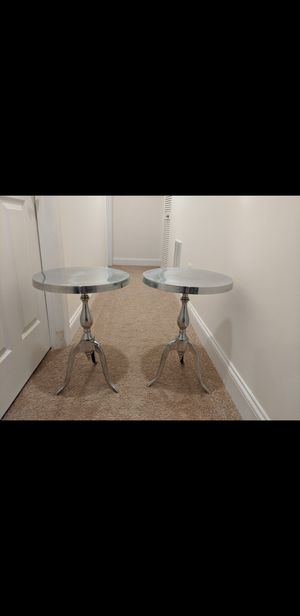 Aluminum Round Top Table (Set of 2) for Sale in Elkridge, MD