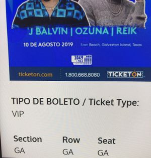 2 Concert tickets vip for Sale in Beaumont, TX