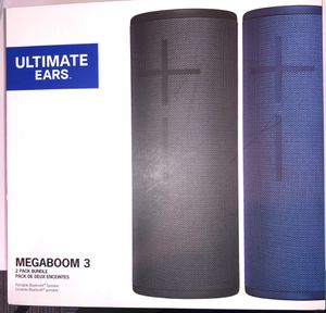 Bundle 2x Ultimate Ears UE MEGABOOM 3 Wireless Speaker Bluetooth Portable for Sale in Burlington, MA
