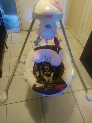 Baby swing cradle swing papasan swing for Sale in Palm Harbor, FL