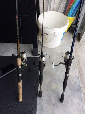 Fishing rods (3) for Sale in Temple Terrace, FL