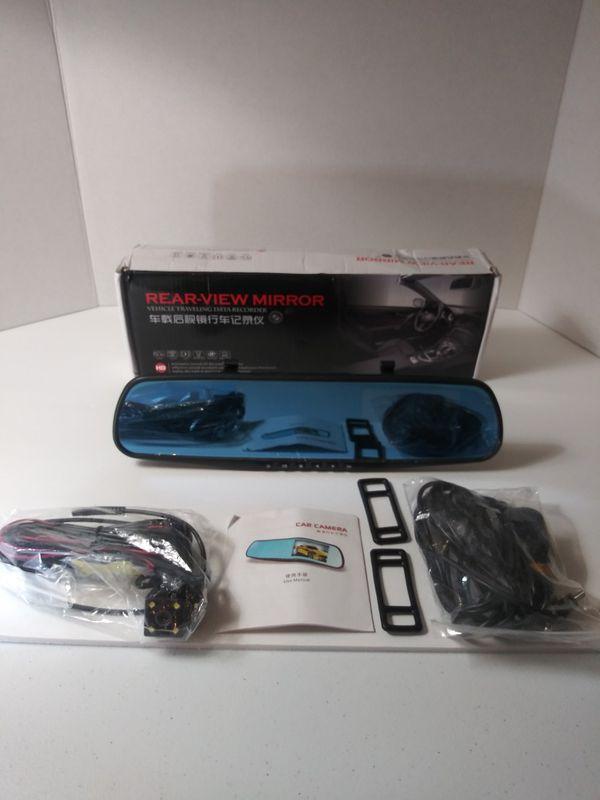 Brand New 1080P HD Dual Lens Car DVR LCD Mirror Monitor Dash Cam Reverse* Rear View Camera