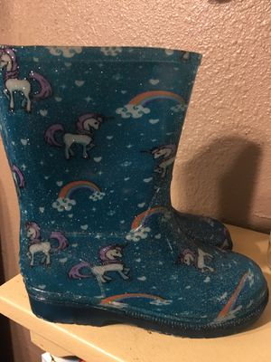 Use one time girl rain boots with lights size 11-12 $25 for Sale in Mesquite, TX