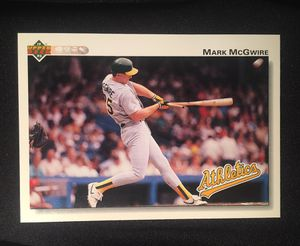 1991-92 UpperDeck #153 Mark McGwire Athletics Baseball Single Trading Card for Sale in La Habra, CA
