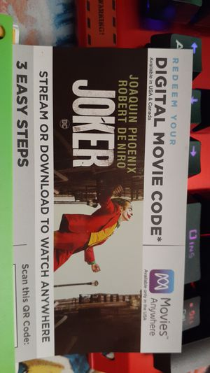 Joker 2019 digital code for Sale in Eugene, OR