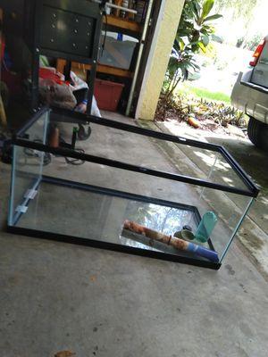 55 gallon tank and reptile accessories for Sale in Lutz, FL