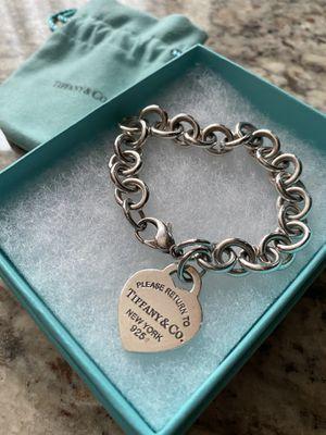 Tiffany Heart Tag Charm Bracelet (OBO) for Sale in San Diego, CA