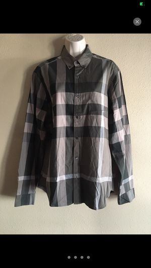 Burberry Brit men's long sleeve shirt Sz L for Sale in Los Angeles, CA