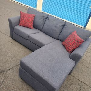 Modern Navy Brand New Sectional Couch Gray , We Have Bed Queen, for Sale in Glendale, AZ