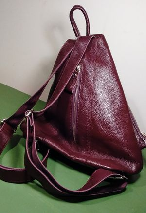 Wine pebble leather backpack. BOGO free. for Sale in Springfield, VA