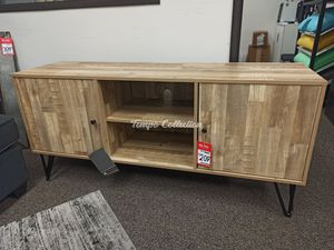 New TV Stand, Natural, SKU# ASHW320-68TC for Sale in Santa Fe Springs, CA