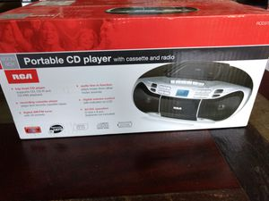 RCA CD PLAYER With Cassette and Radio RCD378D for Sale in Round Rock, TX