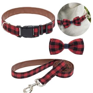 Red And Black Buffalo Plaid Collar And Leash Set for Sale in Rancho Cucamonga, CA