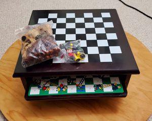 3 in 1 Wooden Board Games set - Chess/Ludo/Snake&Ladder for Sale in Redmond, WA