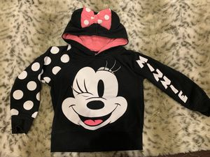 Disney Minnie Mouse Sweatshirt w/ ears Sz 5/6 for Sale in Wantagh, NY