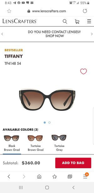 TIFFANY SUNGLASSES for Sale in Worcester, MA