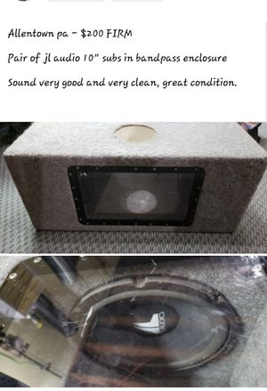 Jl audio subs in jl audio box for Sale in Fullerton, PA