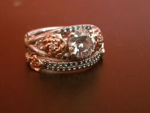 24k two tone gold engagement ring for Sale in Marengo, OH
