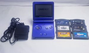 Nintendo Game-Day SP - Combat Blue -AGS-101 w Charger 6 Games for Sale in San Diego, CA