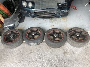4x195/55r15 tires with custom rims for Sale in West Palm Beach, FL