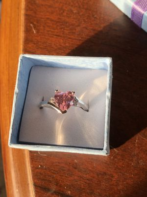 Pink heart ring size 7 .925 for Sale in New Brighton, PA