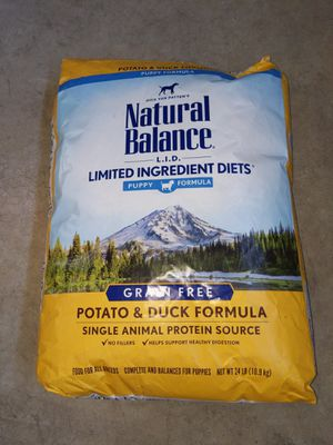Natural Balance Grain Free Potato & Duck Formula for Puppies, 24 lbs. for Sale in Chico, CA