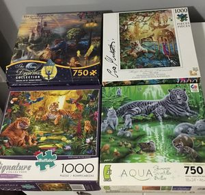 Set of 4 Puzzles for Sale in Knightdale, NC