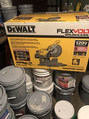 Dewalt Miter Saw flexvol new never used of battery end electric for Sale in Silver Spring, MD