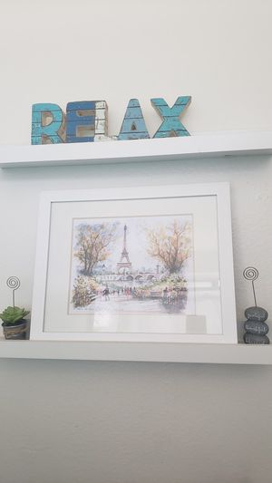 Cute House Bathroom Decoration Frames Floating Shelves for Sale in Los Angeles, CA