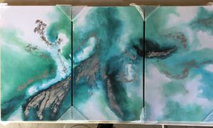 Abstract Wall Art Canvas 3 Panel for Sale in Corona, CA